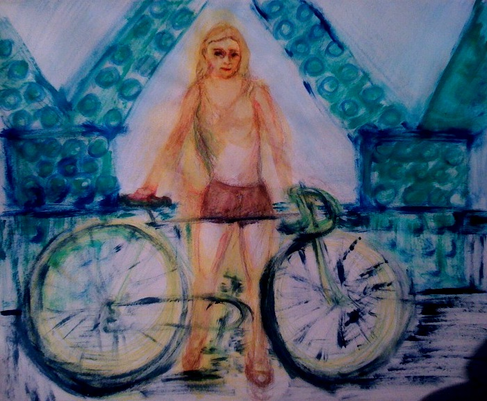 Cycliste reprenant ses esprits