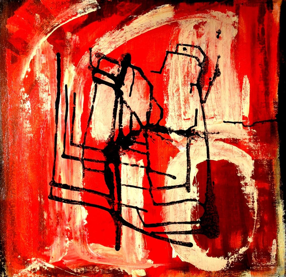 André Clouâtre, Sans titre 78, Acrylique sur toile, 97 x 97 cm (38'' x 38 ''), 2013