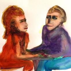 André Clouâtre, Tendresse 16, Aquarelle, 30 x 30 cm (12 x 12 po), 2013