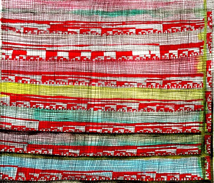 André Clouâtre, Énumération 87,  Encre, aquarelle et acrylique sur papier, 30 x 36 cm ( 12 '' x 14 ''), 2013
