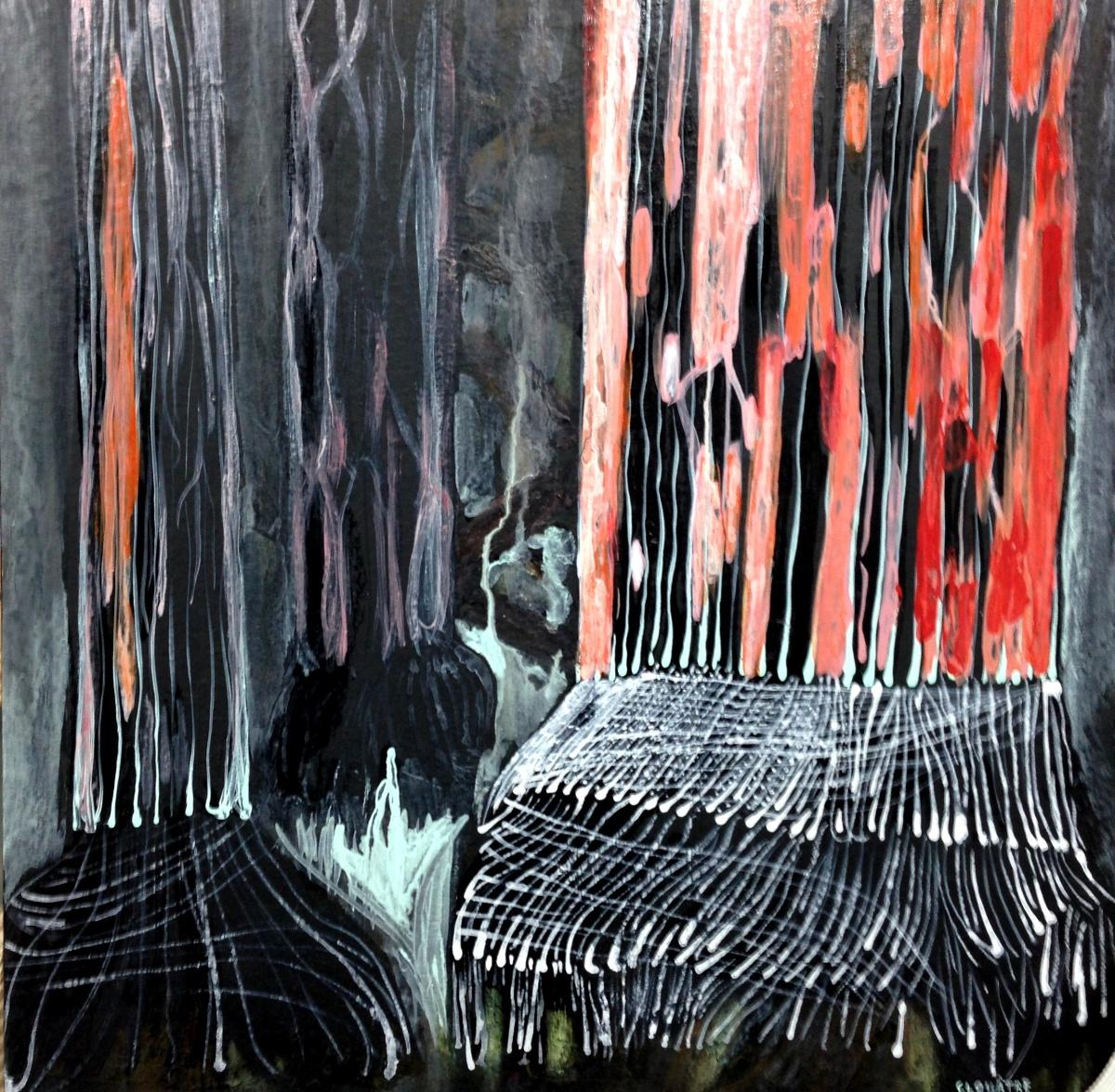 André Clouâtre, Sequoia, Acrylique sur toile, 69 x 69 cm ( 27'' x 27''), 2013
