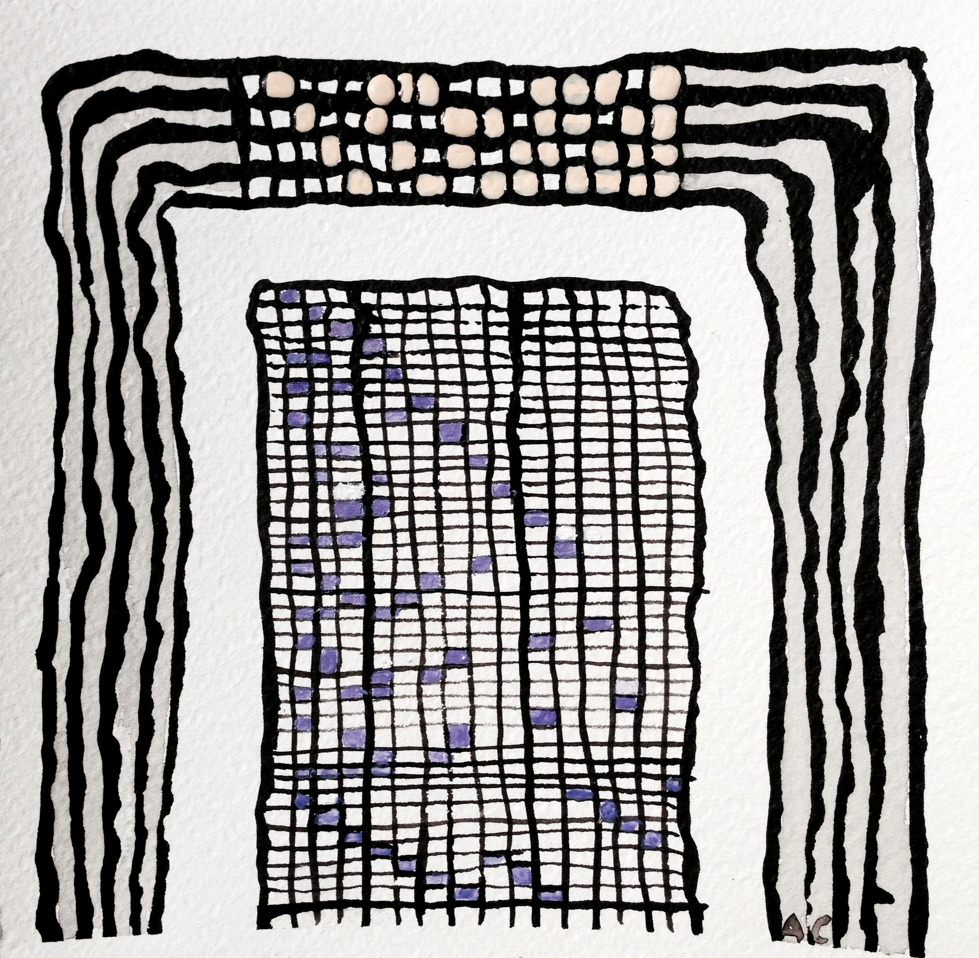 André Clouâtre, Indépendance parfaite, Encre et acrylique sur papier, 18 x 18 cm (7'' x 7''), 2014