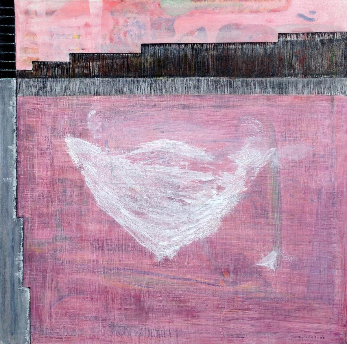 André Clouâtre, Tous les discours, Acrylique sur toile, 102 x 102 cm (39''x39''), 2014