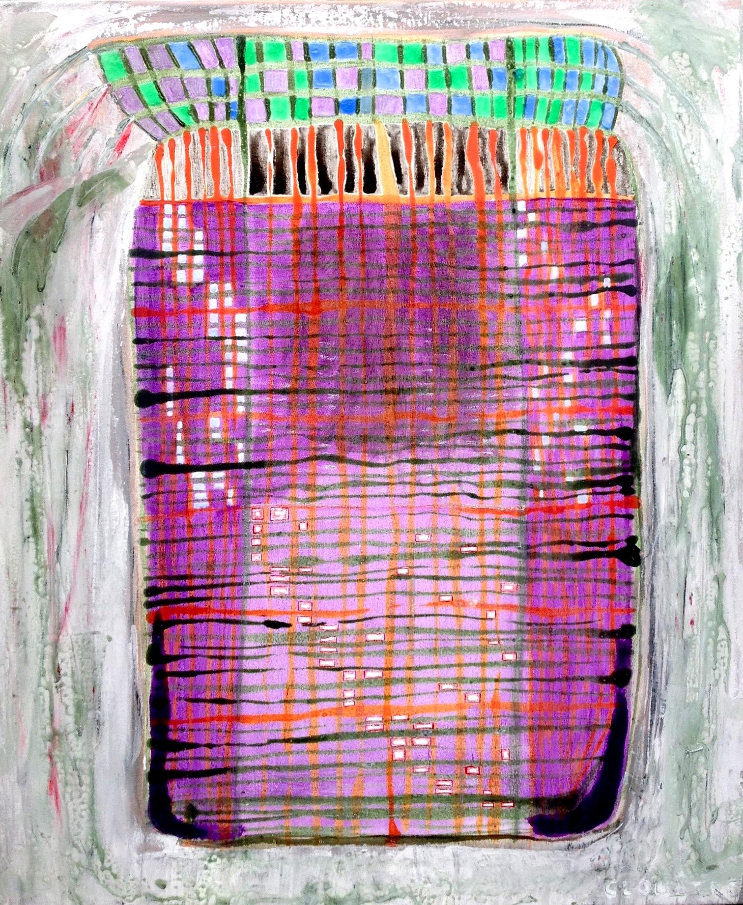 André Clouâtre, Mauve, Acrylique sur toile, 96 x 90 cm (36'' x 30''), 2014