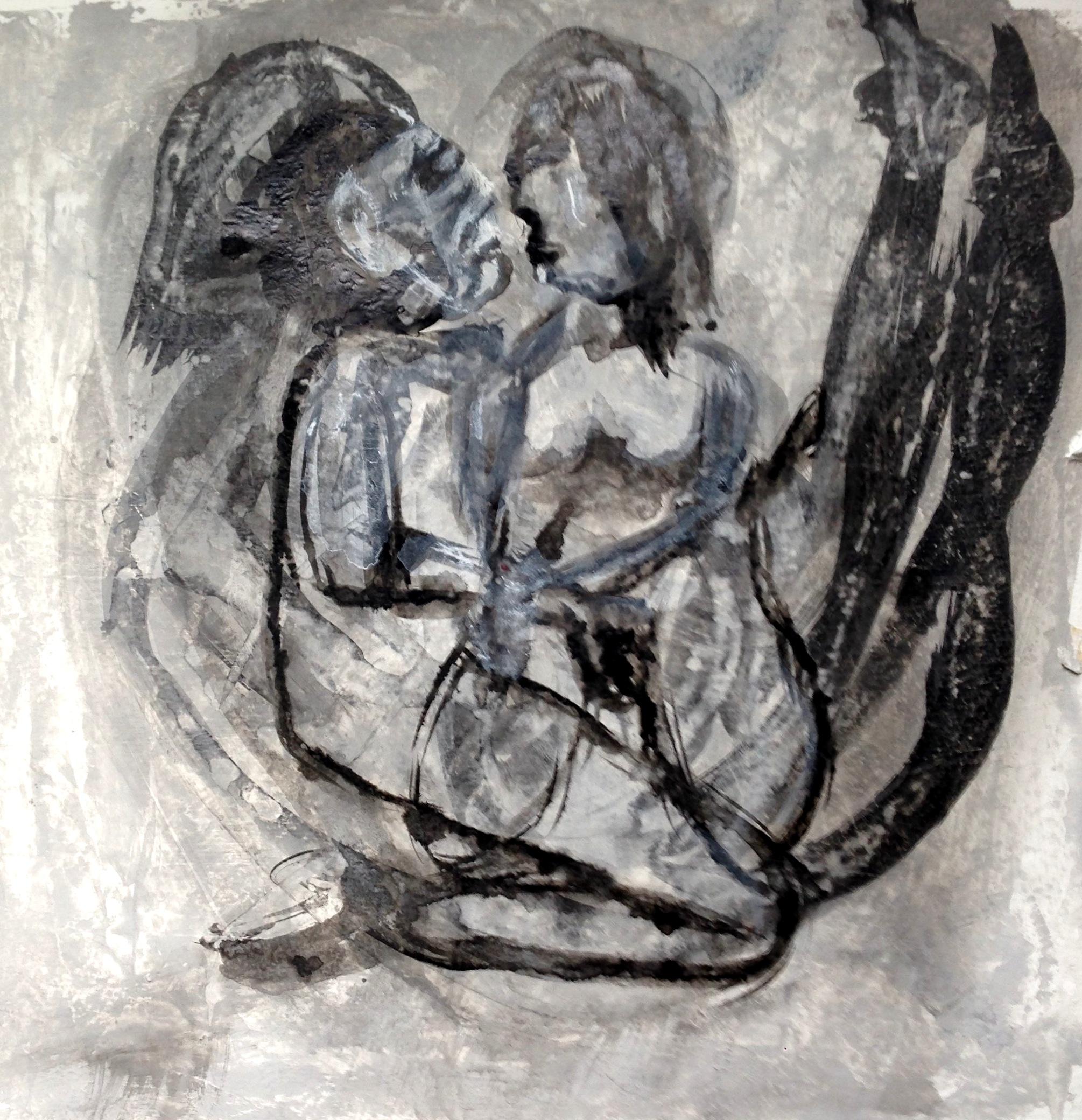 André Clouâtre, Amour physique, 36 x 36 cm (14 x 14''), 2014