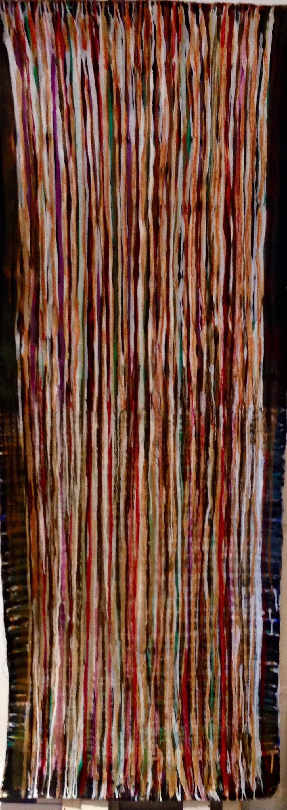 André Clouâtre, Sur la route, Acrylique sur toile, 84'' x 31'', 2015