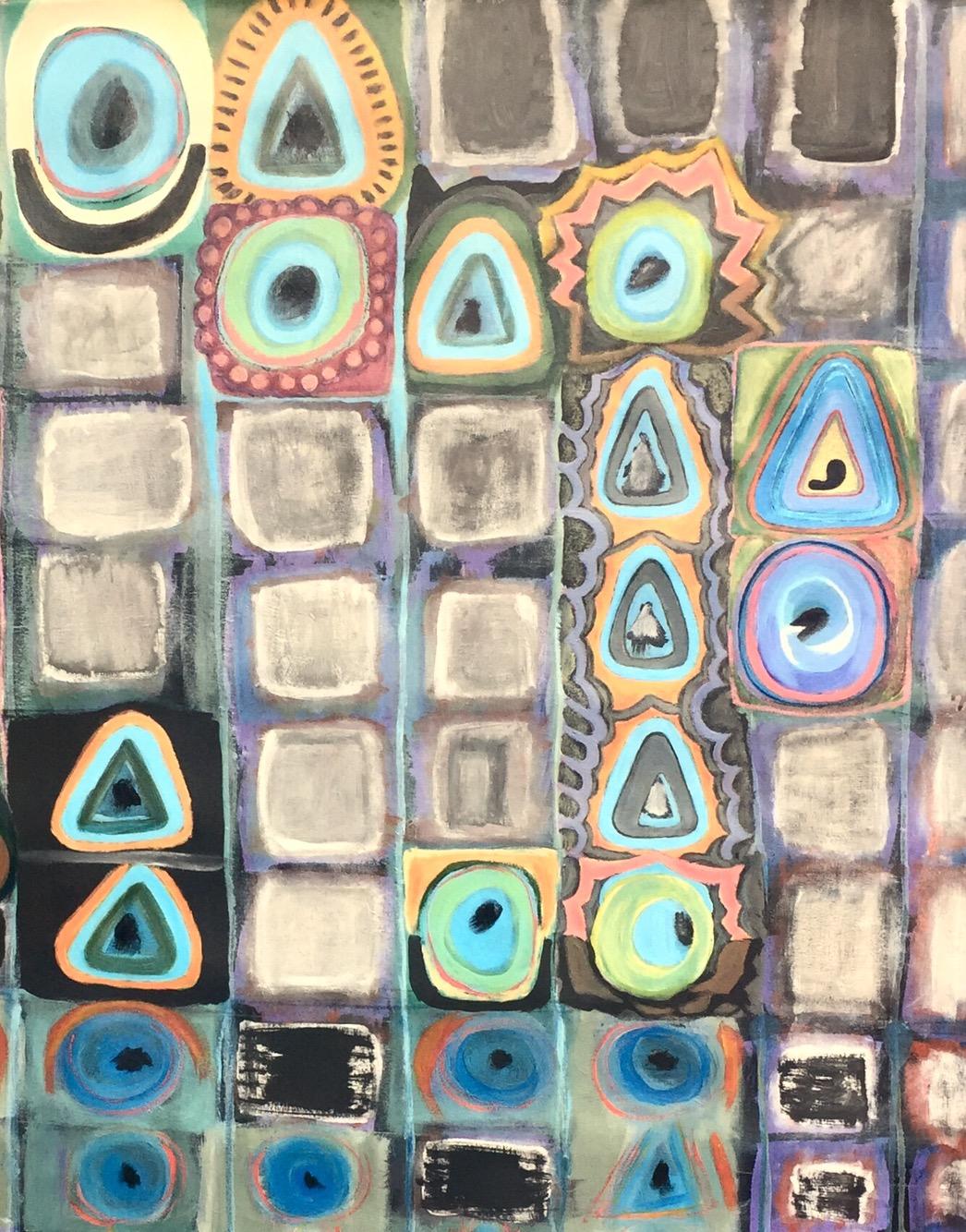 André Clouâtre, Convois de carrés, Acrylique, 42''x42'', 2017